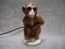 Rare veilleuse Art déco singe porcelaine vintage night light
