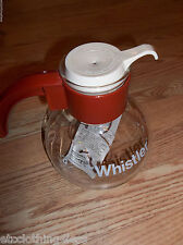 Gemco The Whistler Glass Coffee Tea Pot coffee with trivet