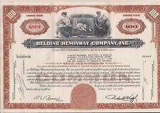 Stock certificate Belding Heminway Company, Inc. 1968