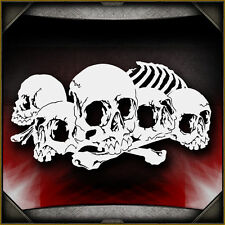 Skull Background 23 -  Airbrush Stencil Template Airsick