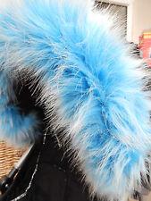 Landau poussette bébé Bleu Faux Fur Hood Trim-s' adapte à toutes les hottes-SUPERBE