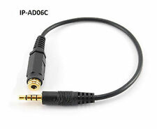 CablesOnline 3.5mm Stereo TRRS 4-Pole M to F iPhone Headset Adapter Cable