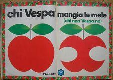 CHI VESPA MANGIA LE MELE PIAGGIO 1968 ADVERTISING PUBBLICITA DOPPIA PAGINA