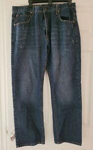 Beverly Hills Polo Club Homme 100% Coton Bleu Denim Jeans Bootcut 36 x 30