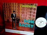 DON BACKY L'immensità LP ITALY 1984 MINT- Clan Celentano