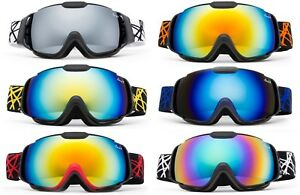 Kids Snow Ski Goggles with Different Styles/Colors Pouch Included!! Boy & Girl