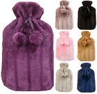 PREMIUM Hot Water Bottle FAUX FUR Warm FLUFFY Cover Period Pain Heat Relaxation