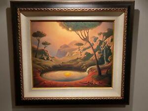 Vladimir Kush art Breakfast on the Lake edition 96/100 print 20x24 framed 30x34