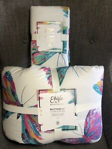 Pottery Barn Kids Etta Vee Butterfly Comforter Twin 100% Cotton + Standard Sham