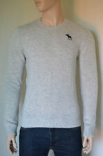Wool Blend Patternless Crew Neck Jumpers & Cardigans for Men