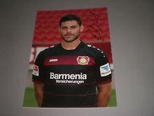 Kevin Volland DFB Bayer 04 Leverkusen FIRMATO SIGNED AUTOGRAFO foto 20x28