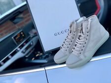 Genuine Gucci Trainers Size 6/7 Cream Brand New In box Unworn Dust Bags Included