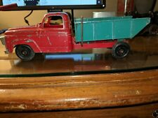 Hubley 1950's Diecast Ford F-100 Dump Truck Green & Red complete