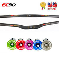EC90 MTB Handlebar 25.4/31.8*660-760mm Carbon Bike  Flat Riser Bar Superlight US
