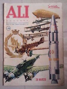 RIVISTA ALI NUOVE ILLUSTRATA AVIAZIONE AERONAUTICA AEREO 1960