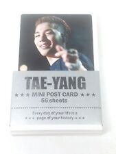 Tae Yang TaeYang Bigbang Photo Mini Post Card 56 Sheets KPOP Big Bang YG Family