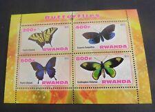 Rwanda 2013  Butterfly Butterflies sheetlet UM MNH unmounted mint