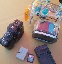 Camera Canon G10 PowerShot WP-DC28 Underwater Housing +Extras