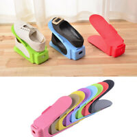 Double Layer Shoe Slots Space Saver Easy Organizer Plastic Rack Storage Holder