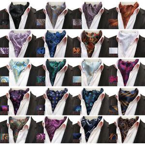 Men's Suits Paisley Floral Cravat Ascot Necktie Wedding Party Formal Tie HZ314