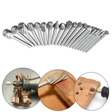 20pcs 3mm Rotary Drill File Cutters Carving Tools Wood Head Carbide Burrs Bit