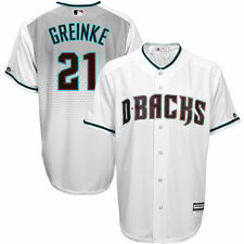 Zack Greinke Arizona Diamondbacks Kids Size 4 Green White MLB Jersey Replica $50