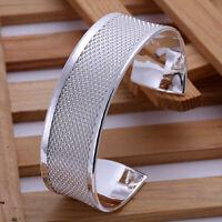 Damen Armreif Milanaise Muster pl. mit Sterlingsilber Armband DB048  T::A Neu