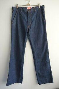 Vintage 1970s Levi's White Tab 665 Blue Denim Flared Leg Jeans sz 92cm
