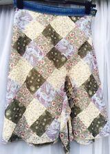BNWT MEXX RRP £29 Beige Khaki Floral Patchwork Summer Skirt 12 38 Frill Floaty