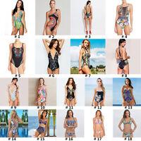 Women One-Piece Swimsuit Beachwear Swimwear Push Up Monokini Bikini Set Bathing