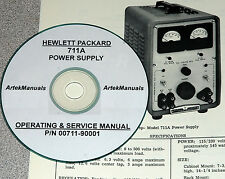 HP  Hewlett Packard 711A  Power Supply Operator & Service Manual