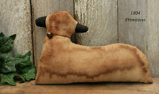 "10"" Primitive Aged Fabric Sheep / Lamb -:¦:- Cupboard Tuck"