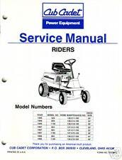 CUB CADET 526 802 804 830 1106 1136 RIDING MOWER SERVICE MANUAL