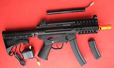 Galaxy MP5K Metal Gearbbox Electric Airsoft Gun w/Full RIS Rails & 2 Clips