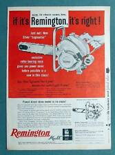 Original 1957 Magazine Ad  Featuring the Remington Silver Logmaster Chainsaw