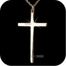 18k rose gold gp cross classic pendant necklace fashion attitude jewelry