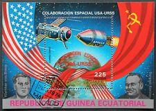 """Äquatorialguinea: Mi. Block-Nr. 172 """"Raumfahrt/ Weltraumforschung"""" 1975, gest."""
