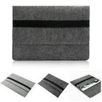 "Laptop Envelope Sleeve Wool Felt Case Pouch Bag For MacBook Air Pro 11""12""13""15"""