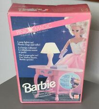 VINTAGE 1991#BARBIE FUN PHONE CENTRE SET PINK MAGIC SPARKLES #NIB