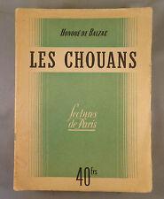 H. DE BALZAC / LES CHOUANS / 1946 LECTURES DE PARIS SEPE