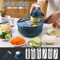 12-in-1 Multifunction Vegetable Potato Fruit Cutter Kitchen Slicer Grater Tool