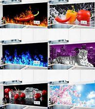 Küchenrückwand fugenlos 1000 Motive Spritzschutz Badrückwand Herd Küche Alu #