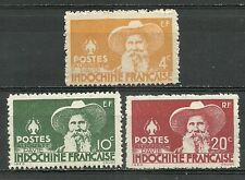 3 new stamps* French INDOCHINA  1944 Auguste PAVIE     (3416)