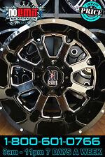 XD Buck 825 Wheels 22x10 Gloss Black Milled 5/6/8 Lug Patterns -18mm Offset