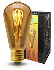 Vintage LED 2W Edison Style ST58 Teardrop Spiral Filament Light Bulb B22 or E27