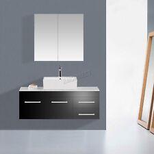 foxhunter double 2 door wall mount mirror bathroom cabinet storage cupboard bc01