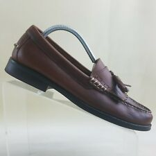 Chaps  Men's Genuine Leather Kiltie Tassel Loafers Shoes Size 9D Brown #G44