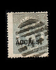 VINTAGE:AZORES-PORTUGAL 1880 USD LH  SCOTT # 38 $42.50 LOT #1880X237