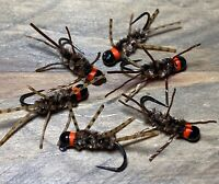 (4) Pat's Rubber Legs Euro Jig Nymphs - barbless , choose color/hook/size!
