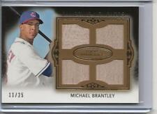 2011 Topps Marquee Michael Brantley 11/25 Gametime Mementos Quad Bat Card Indian